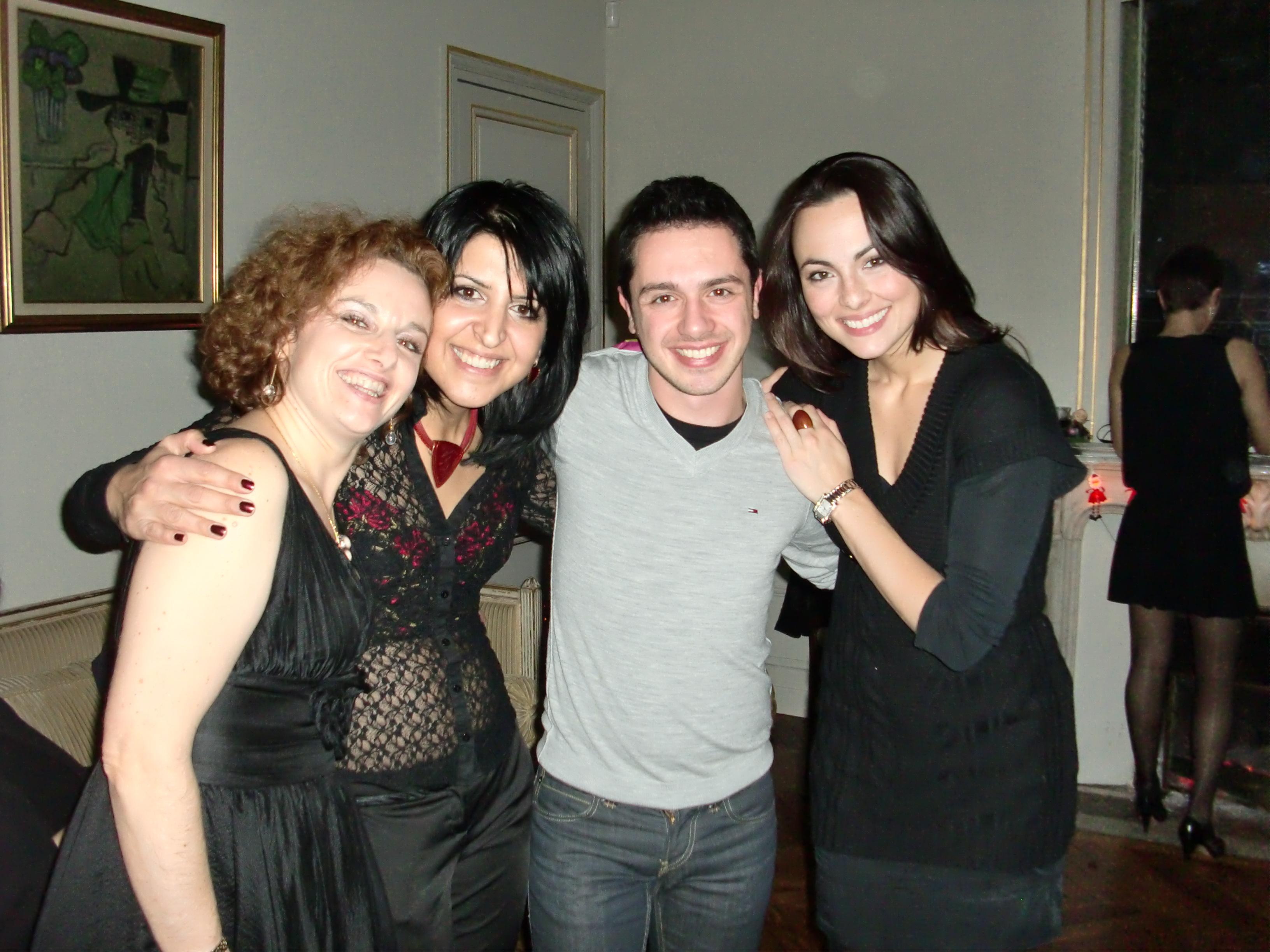 With Emmanuelle Haim, Varduhi Abrahamyan and Hugo Mahieux