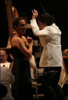 With Gustavo Dudamel